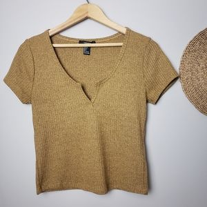 Forever 21 Cropped Top Size Large
